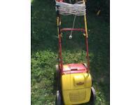Wolf garten scarifier electric lawn raker for garden moss