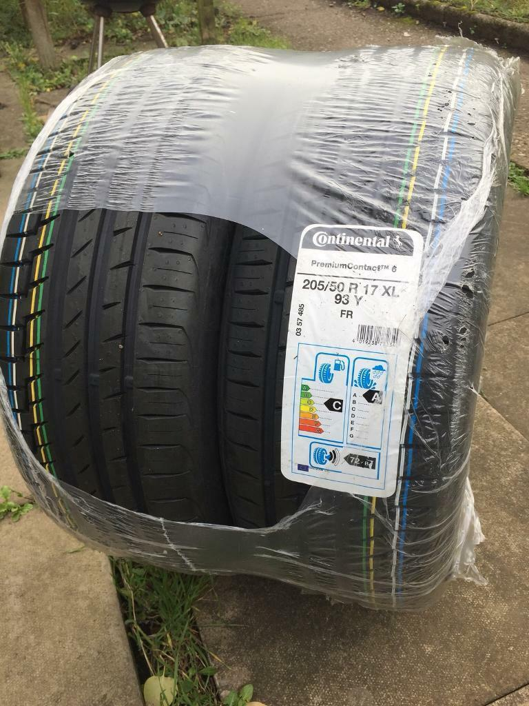 x2 Brand new tyres Continental 205/50/R17