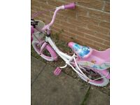 Girls bike 14 inch wheels age 4 years