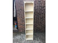Painted 6ft bookshelf - pinewood
