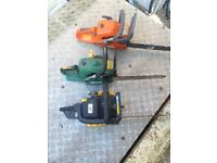 x3 petrol chain saws spares or repairs £65 the lot