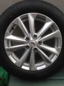 4x NISSAN JUKE 215/60/R17H TYRES / ALLOY WHEELS ( New ) Delivery miles only !!!!!!!!!!!!!!!!!!!!!