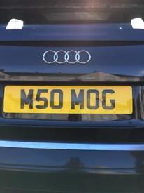 Registration number plate