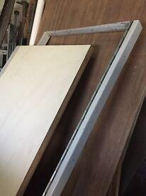 Strong reinforced door with steel frame