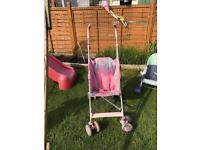 Pink stroller £10