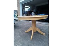 Pine table and 4 chairs excellent condition Kentucky table as shown in argos