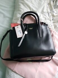 Brand new with tags Radley Beaufort Black Leather Multiway Tote Bag