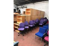 Purple Office Chair with Arms