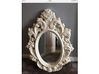 Lovely white mirror