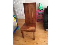 Solid oak wood chairs