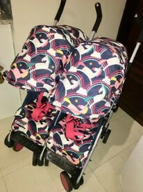 Cosatto double unicorn double pushchair