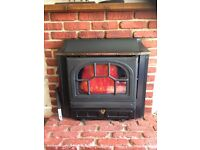 Parkray multifuel stove with back boiler