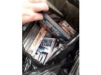 Black bag full off dvds