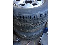 Wheels/Tyres x 4 Size 205/80/R16