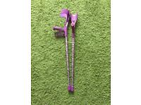 SWITCH STICKS PAIR OF CRUTCHES In Purple Colour