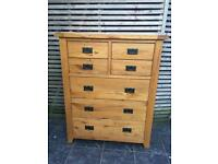 Rustic Oak large chest of drawers