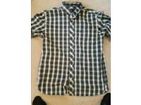 Fred Perry gingham check shirt size medium