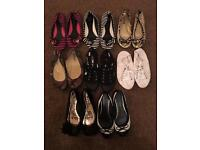 8x pairs of flat / pumps shoes