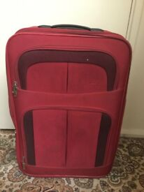 Red suitcase in very good condition only £8