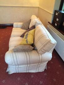Laura Ashley sofa and armchair (loose covers)