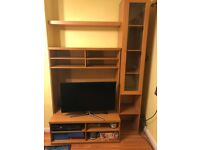 Glass cabinet and TV Unit