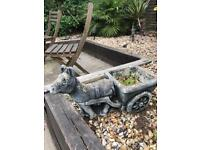 Stone donkey planter buyer collects only