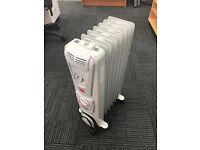 Oil filled radiator portable heater 1500W 7 fin