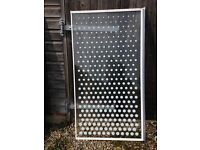 Glass shower screen with spots - 74cm x 137cm