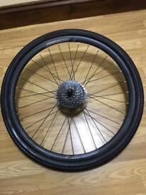"Bike wheel rear 26"" with 8 gear cassette and disc brake"