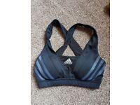 Sports bra adidas size 6 xs extra small black activewear workout gym runnung bra