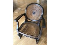 Pre-war cane backed rocking chair