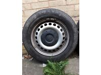 VW Transporter T5 Steel Wheels and Good Tyres