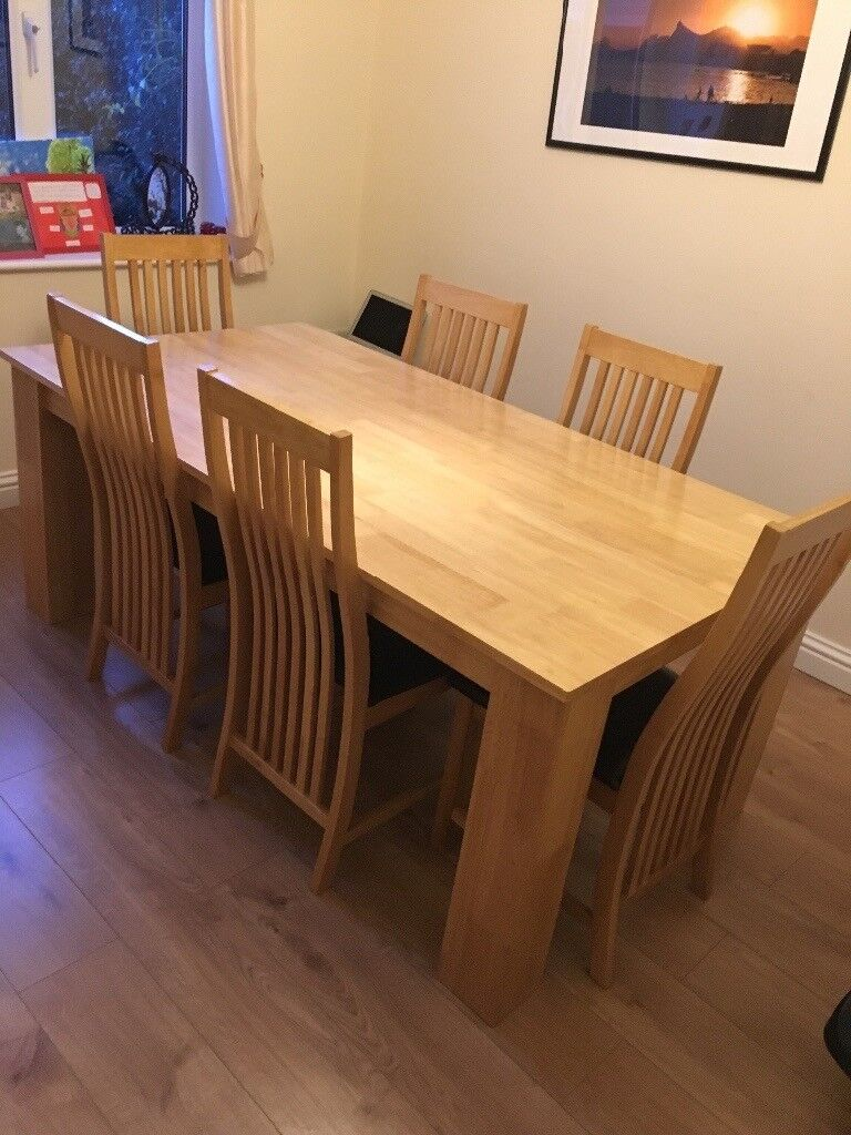 TUSCANY 180CM SOLID HARDWOOD DINING TABLE AND 6 CHAIRS