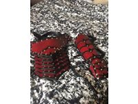 Hand Made Leather Gauntlet and Spaulder Arm Armour