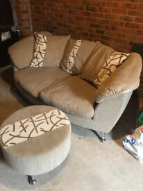 Sofa and foot stool