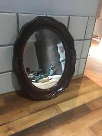 Lovely Ornate Oval Framed Small Mirror