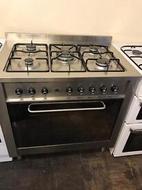 Indesit range gas cooker 90cm stainless stee