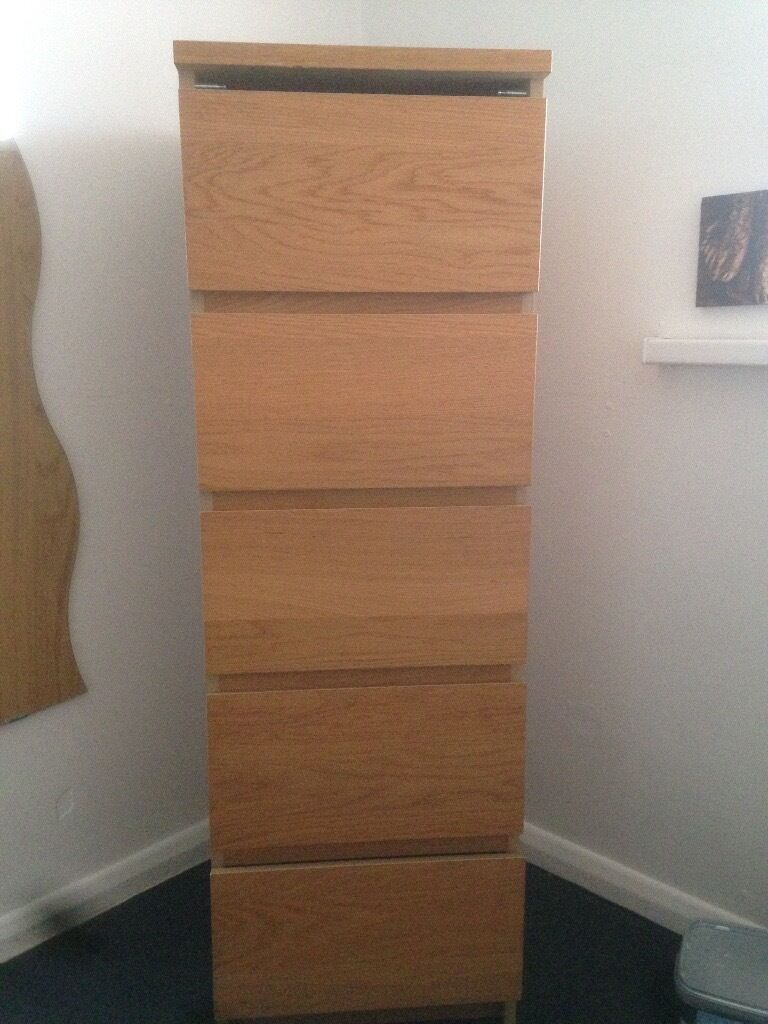 Ikea Malm bed and drawers x 2