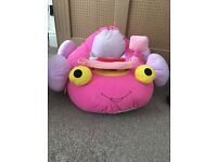 Cushioned toy car baby girl pink - like new