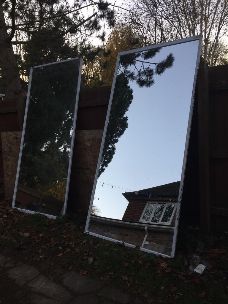 Mirror glass sliding doors