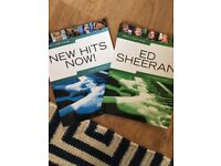Piano books - now hits and ed Sheeran