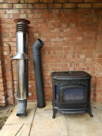 Broseley Fires Winchester Gas Stove with decorative flue in excellent condition