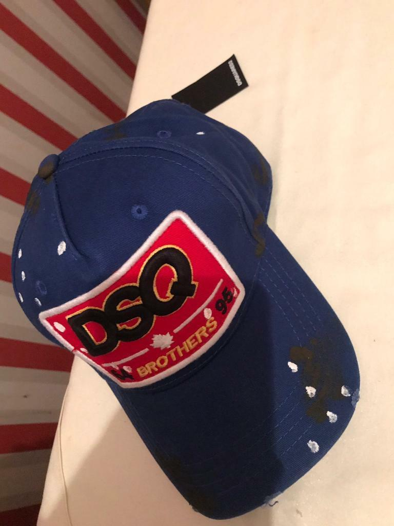 dsquared2 dsq brothers baseball cap blue(new with tags) ba025a850b0