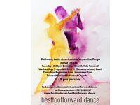 Ballroom, Latin American & Argentine Tango dance classes