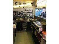 American dinner catering van