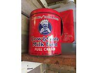 "Cow and Gate ""Smiler"" tin"
