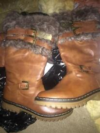 Ugg leather boots (new) size 4