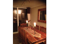 Beautiful wooden table and 6 chairs