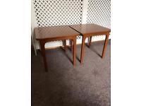 ~ Pair of Retro Nathan side tables ~