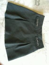 Girls grey school skirt age 4-5 years from M&S